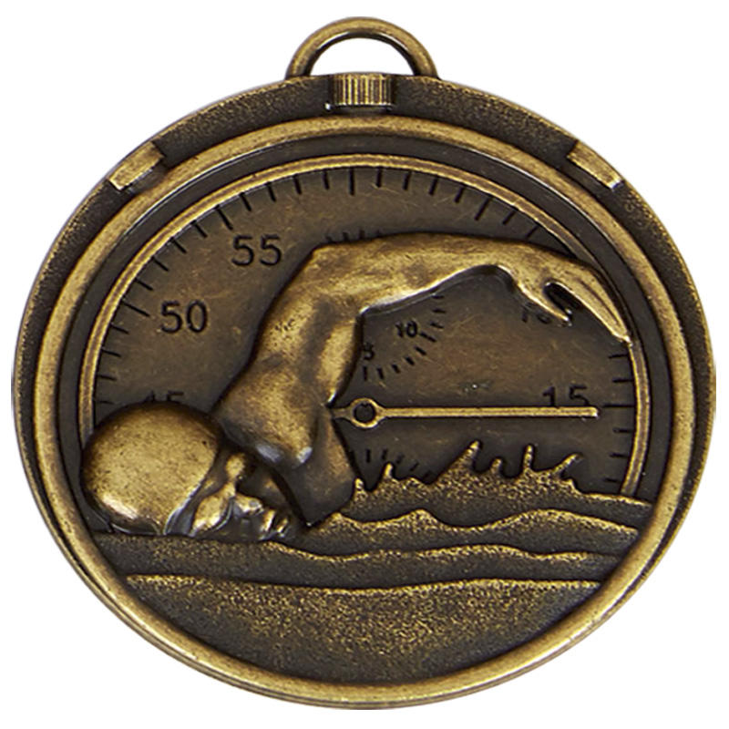 Swimmers Stopwatch bronze medal
