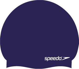 Speedo Moulded Silicone Swimming Cap in navy
