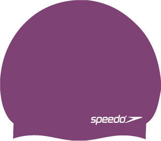 Speedo Moulded Silicone Swimming Cap in purple