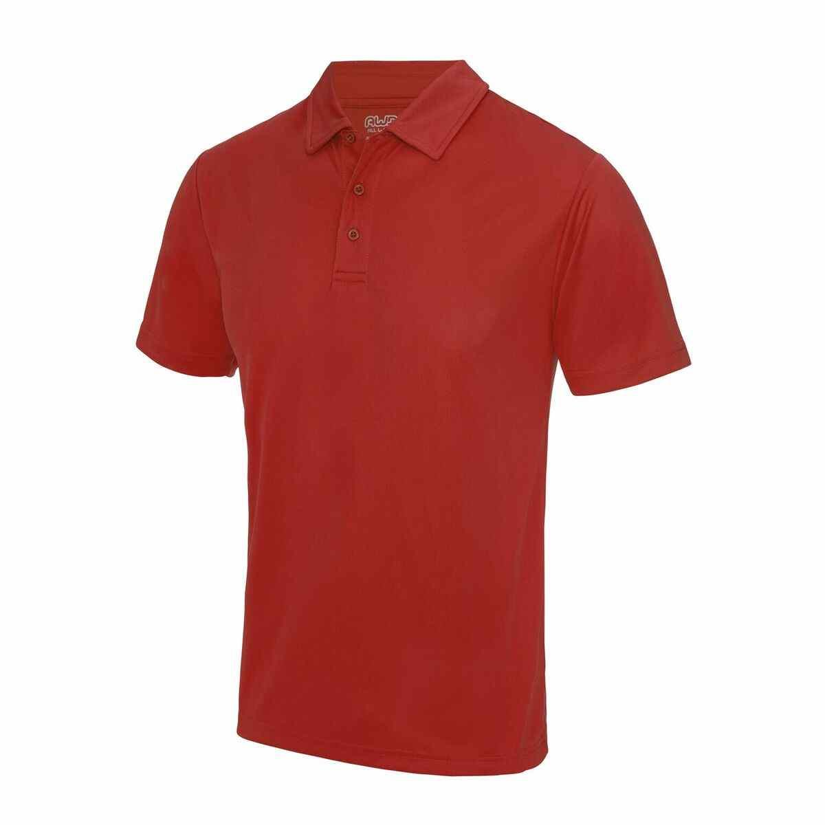 Fire Red Poolside Polo Shirt