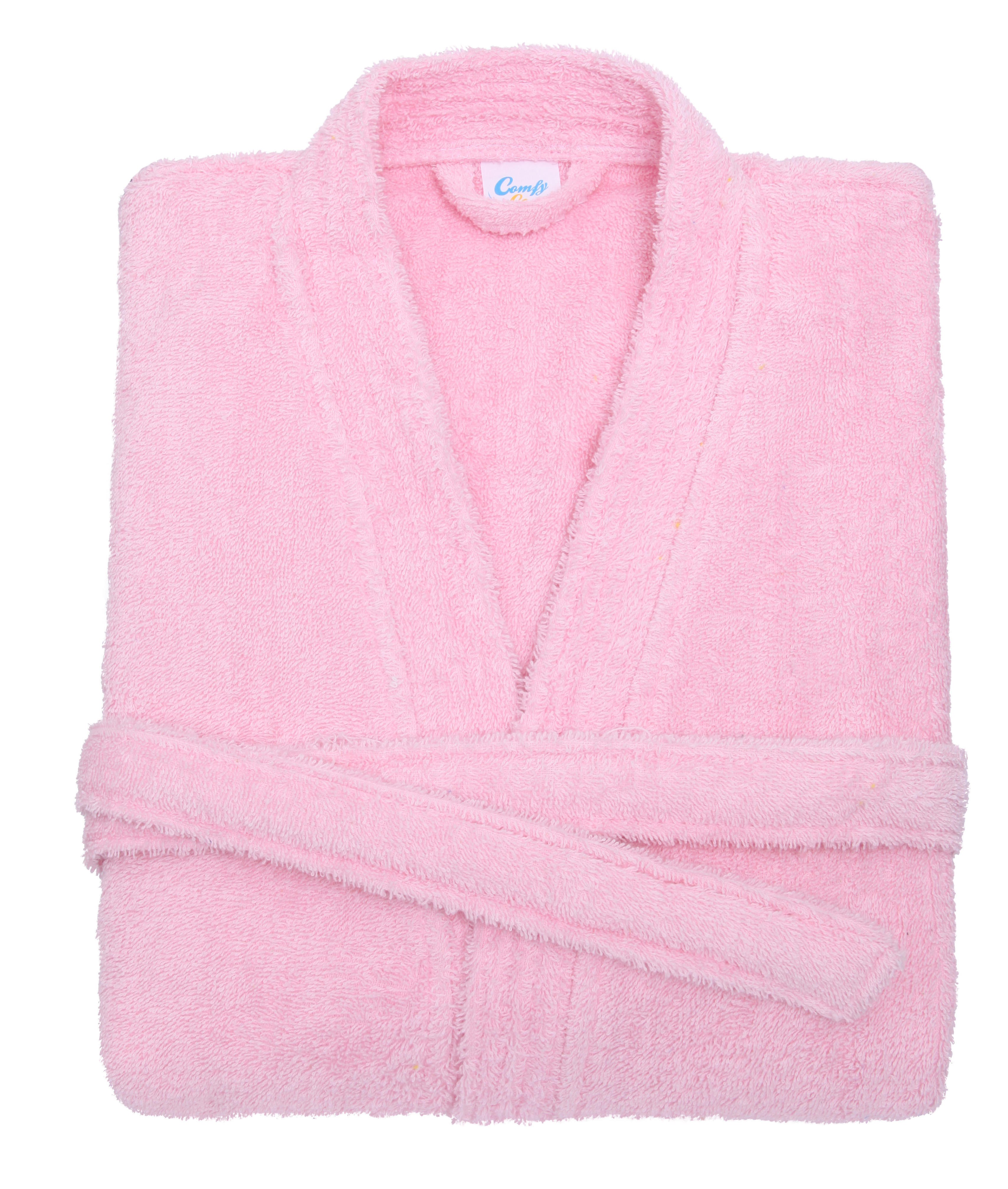 baby pink cotton towelling bath robe