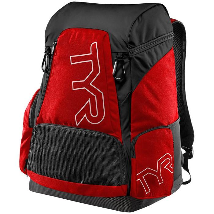 The red and black TYR Alliance 45L Backpack