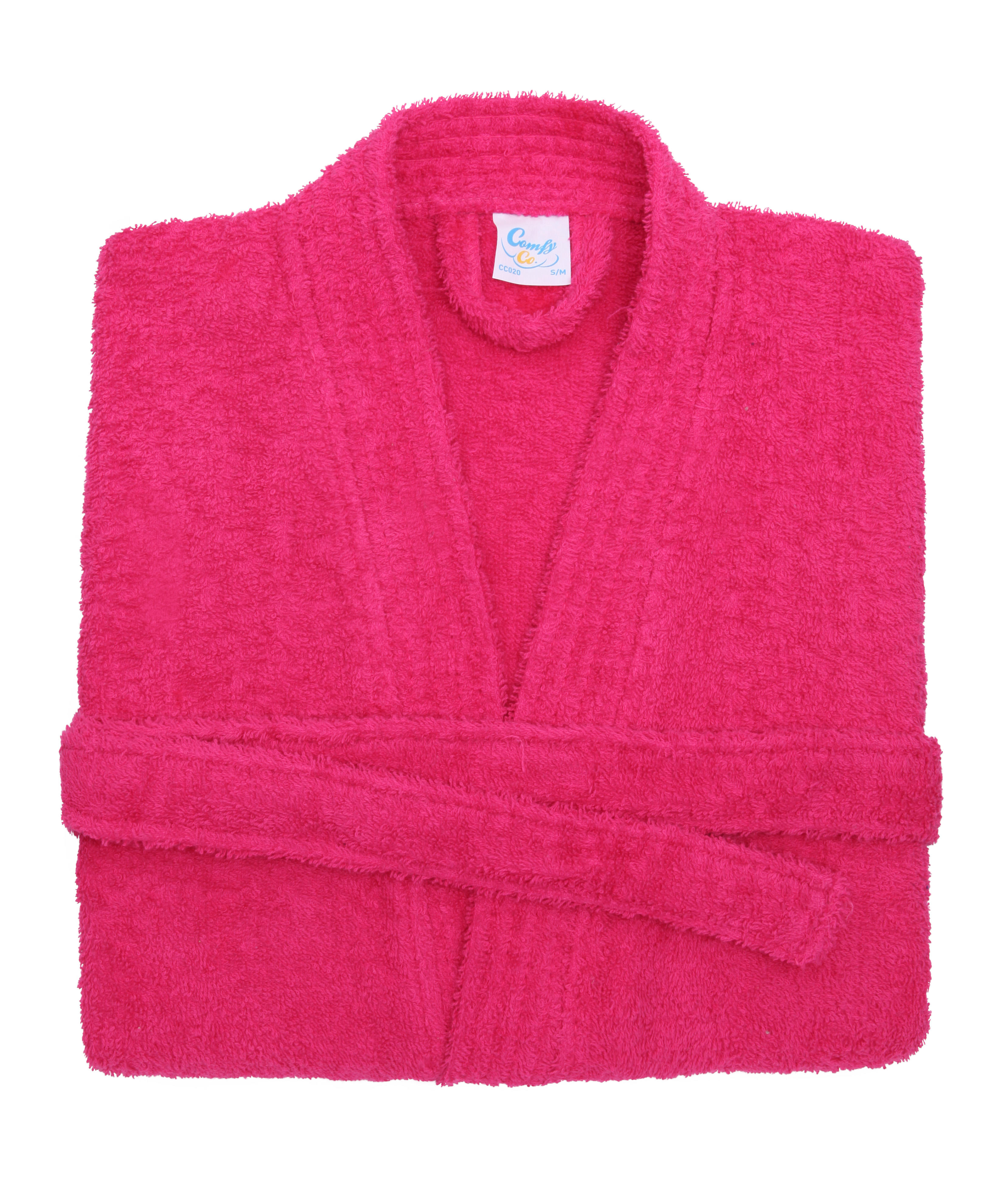 hot pink cotton towelling bath robe