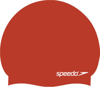 Speedo Moulded Silicone Swimming Cap in red