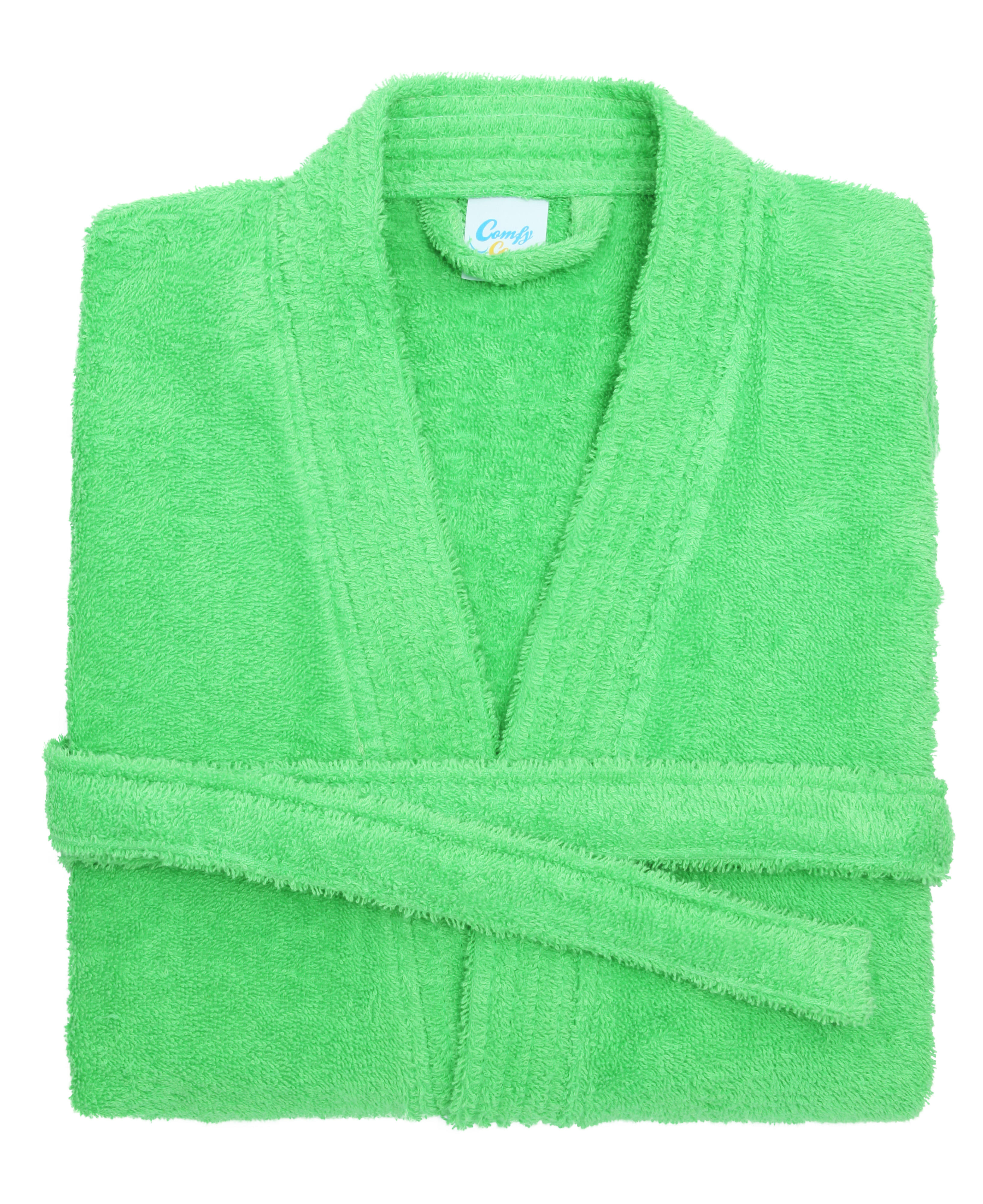 lime green cotton towelling bath robe