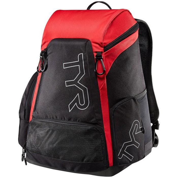 The black and red TYR Alliance 45L Backpack