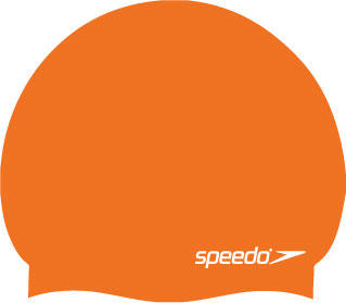 peedo Moulded Silicone Swimming Cap in orange
