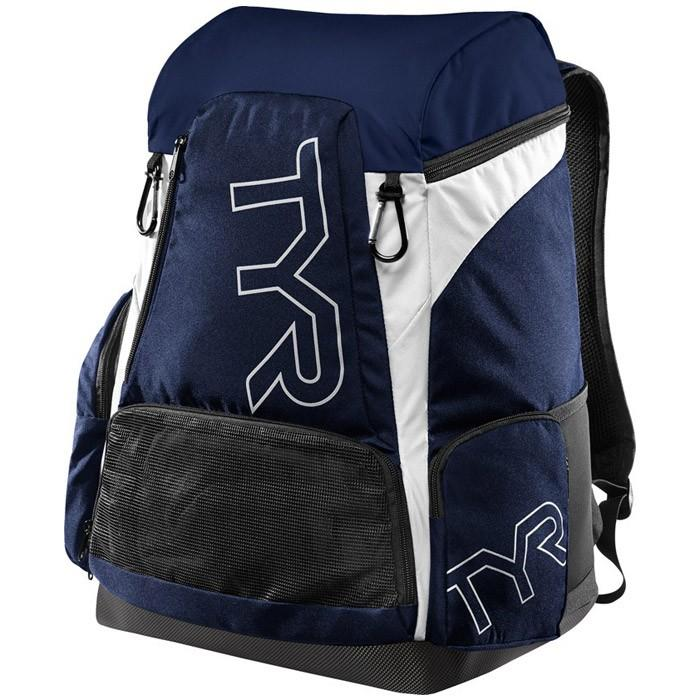 The navy and white TYR Alliance 45L Backpack