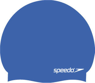 Speedo Moulded Silicone Swimming Cap in blue