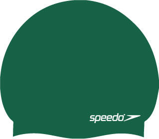 peedo Moulded Silicone Swimming Cap in bottle green