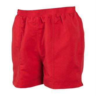 life guard womens shorts in vibrant red