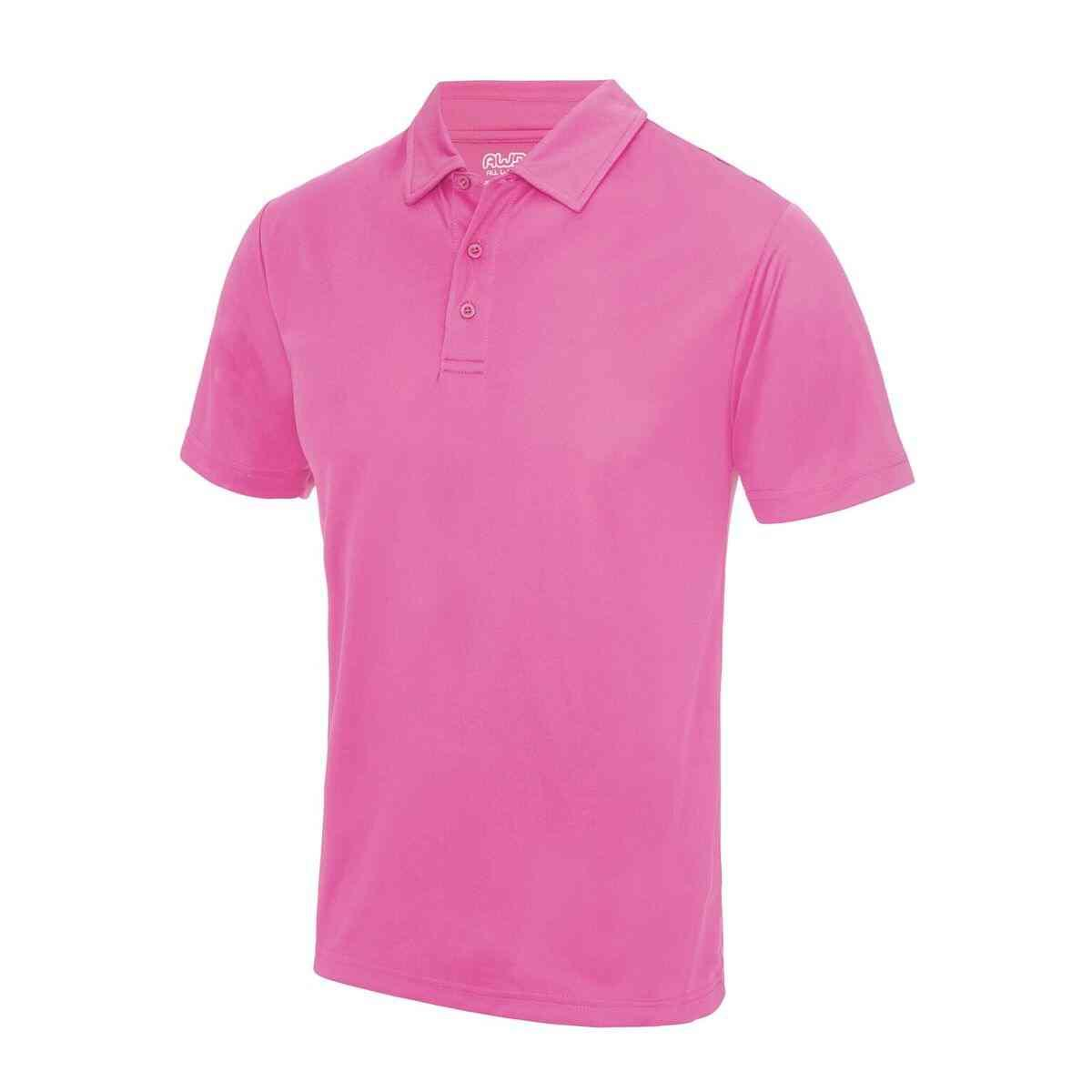 Electric Pink Poolside Polo Shirt