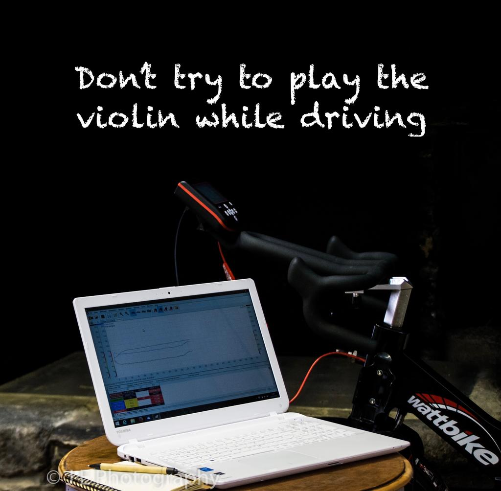 Don't try to play the violin while driving