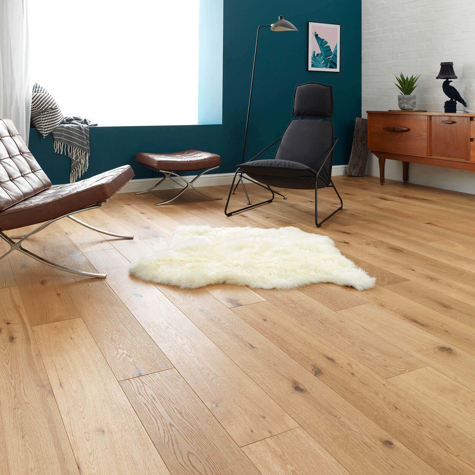 Woodpecker Chepstow Rustic Oak Brushed & Oiled Engineered Wood Flooring 189mm 65-HBO-001