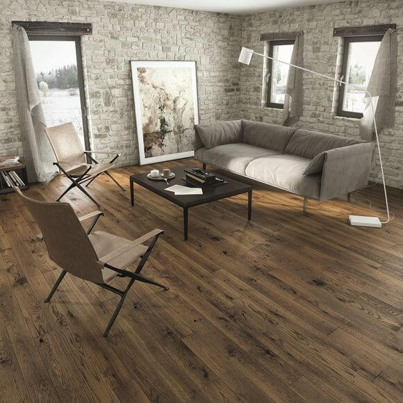 Baelea Narrow Milk Chocolate Oak Uv Matt Lacquered 130mm Wide Engineered Wood Flooring Bf44