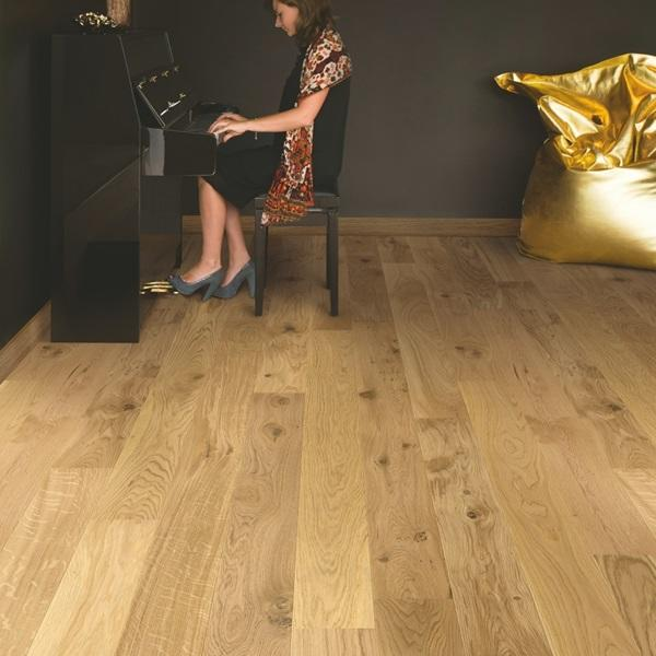 Quick-Step Compact Oak Natural Matt Lacquered Engineered Realwood Flooring COM1450