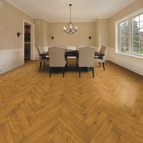 Tuscan Modelli Smoked Oak Brushed UV Oiled Herringbone Parquet TF31 Engineered Wood Flooring