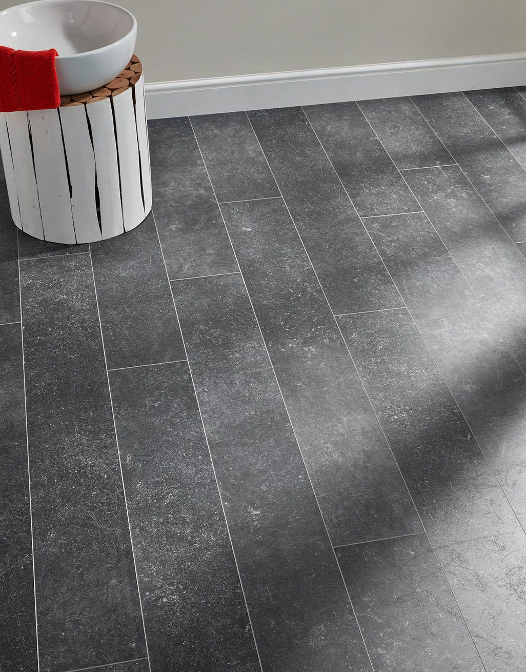 Baelea Ceramic Aqua Industrial Dark Grey 8mm Tile Effect Laminate Flooring