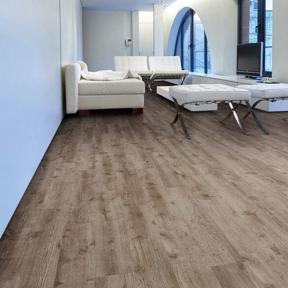Baelea Aqua Rigid Core Weathered Brown Oak Click Engineered Vinyl Floor