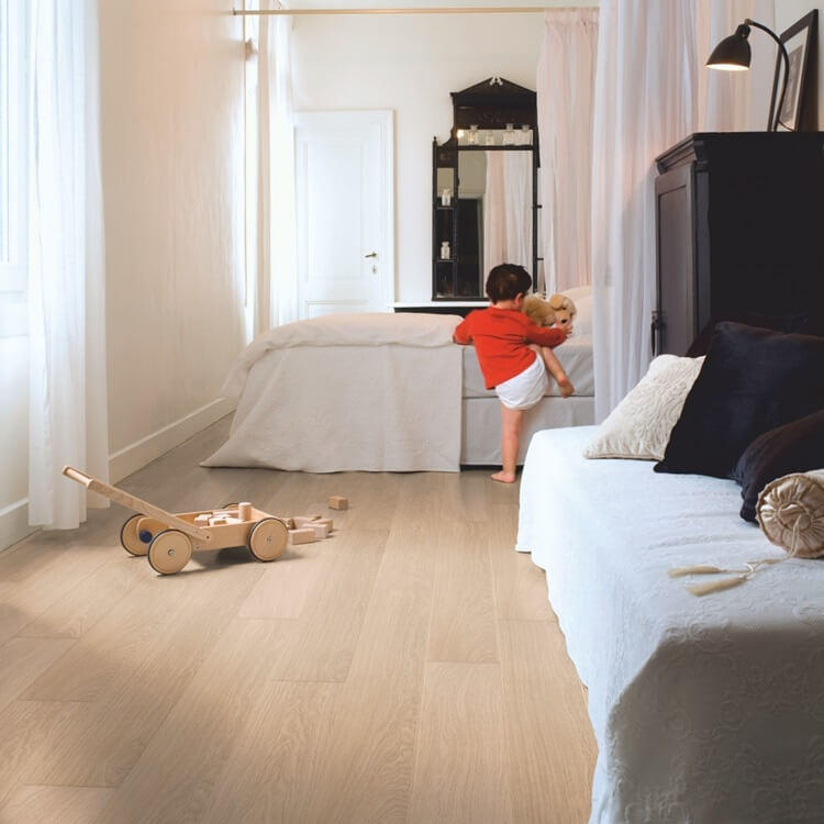 Quick-Step Impressive Ultra White Varnished Oak IMU3105 12mm Laminate Flooring