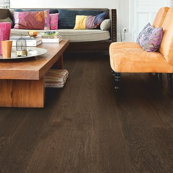 Quick-Step Coffee Brown Oak Matt Lacquered Engineered Realwood Flooring CAS1352S