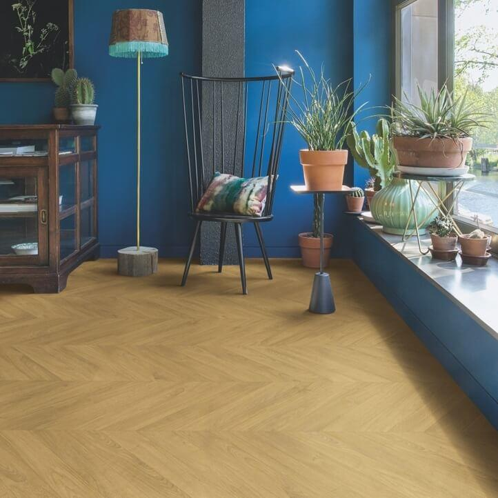 Quick-Step Impressive Patterns Chevron Oak Natural IPA4161 8mm Laminate Flooring