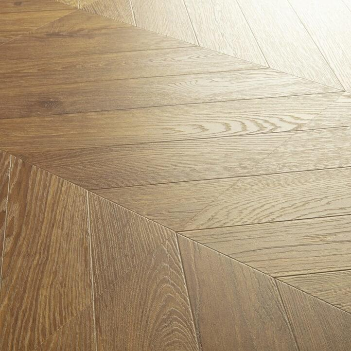 Quick-Step Impressive Patterns Chevron Oak Brown IPA4162 8mm Laminate Flooring