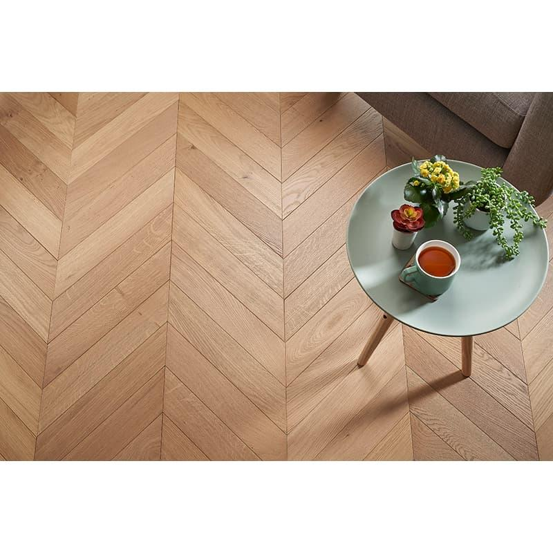 Tuscan Modelli Light Smoked Oak Brushed UV Oiled Chevron Parquet TF41 Engineered Wood Flooring