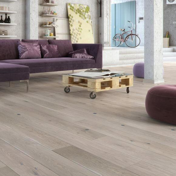 Baelea Holt Tintern Oak Brushed & Matt Lacquered 180mm Wide Engineered Wood Flooring