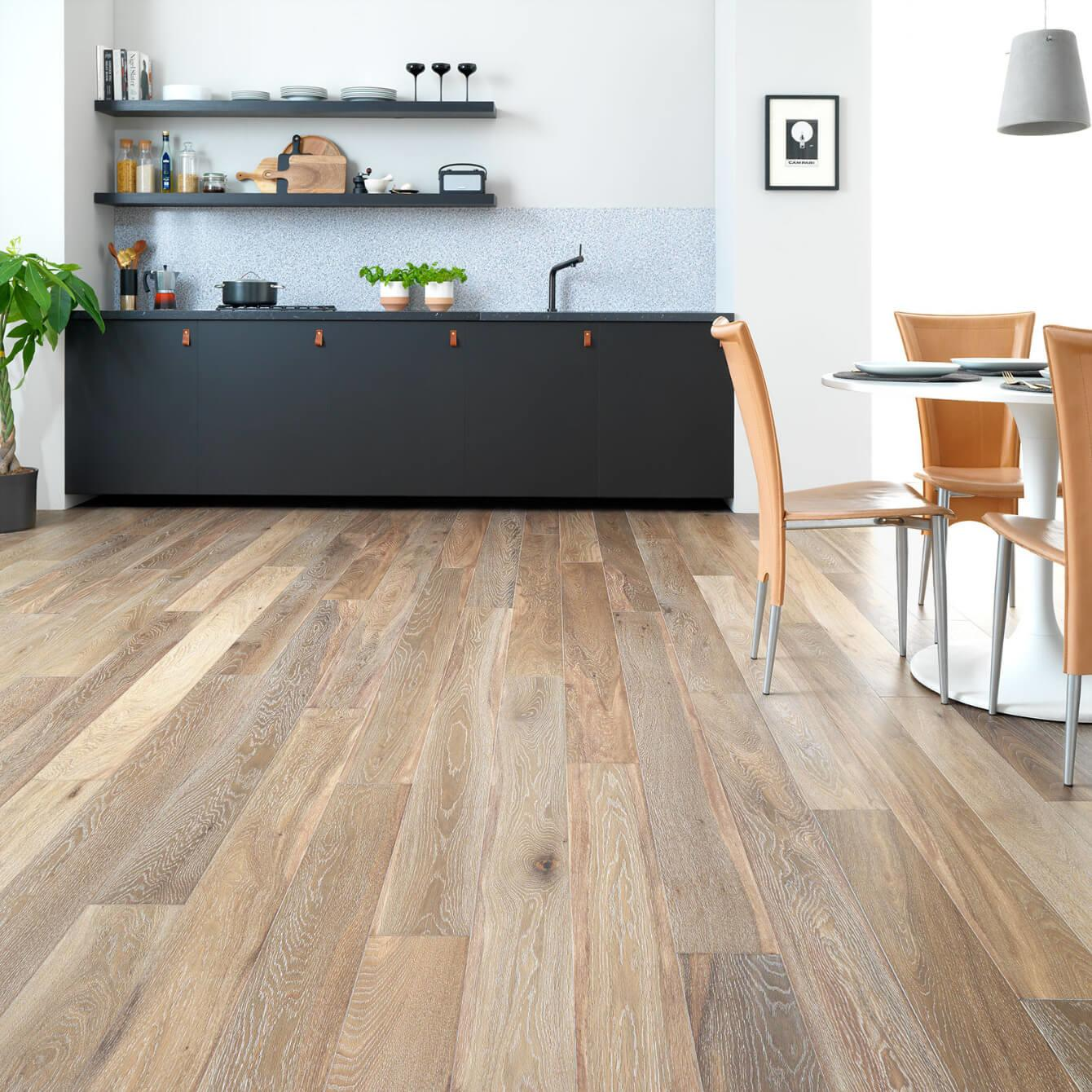 Woodpecker Harlech White Smoked Oak Engineered Wood Flooring 240mm 35-HWS-240