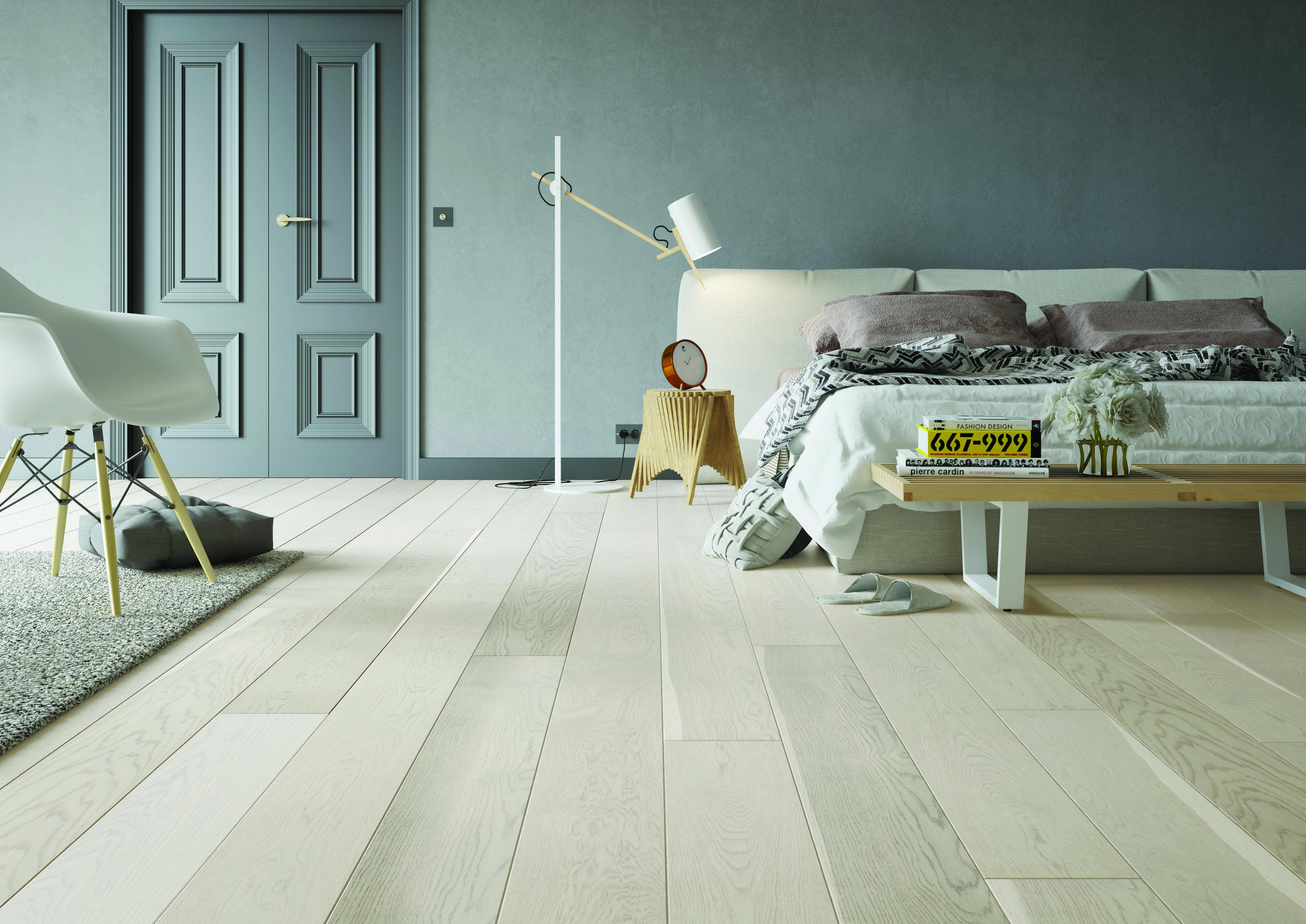 Tuscan Country Bleached Oak Brushed & Matt Lacquered TF109 Engineered Wood Flooring