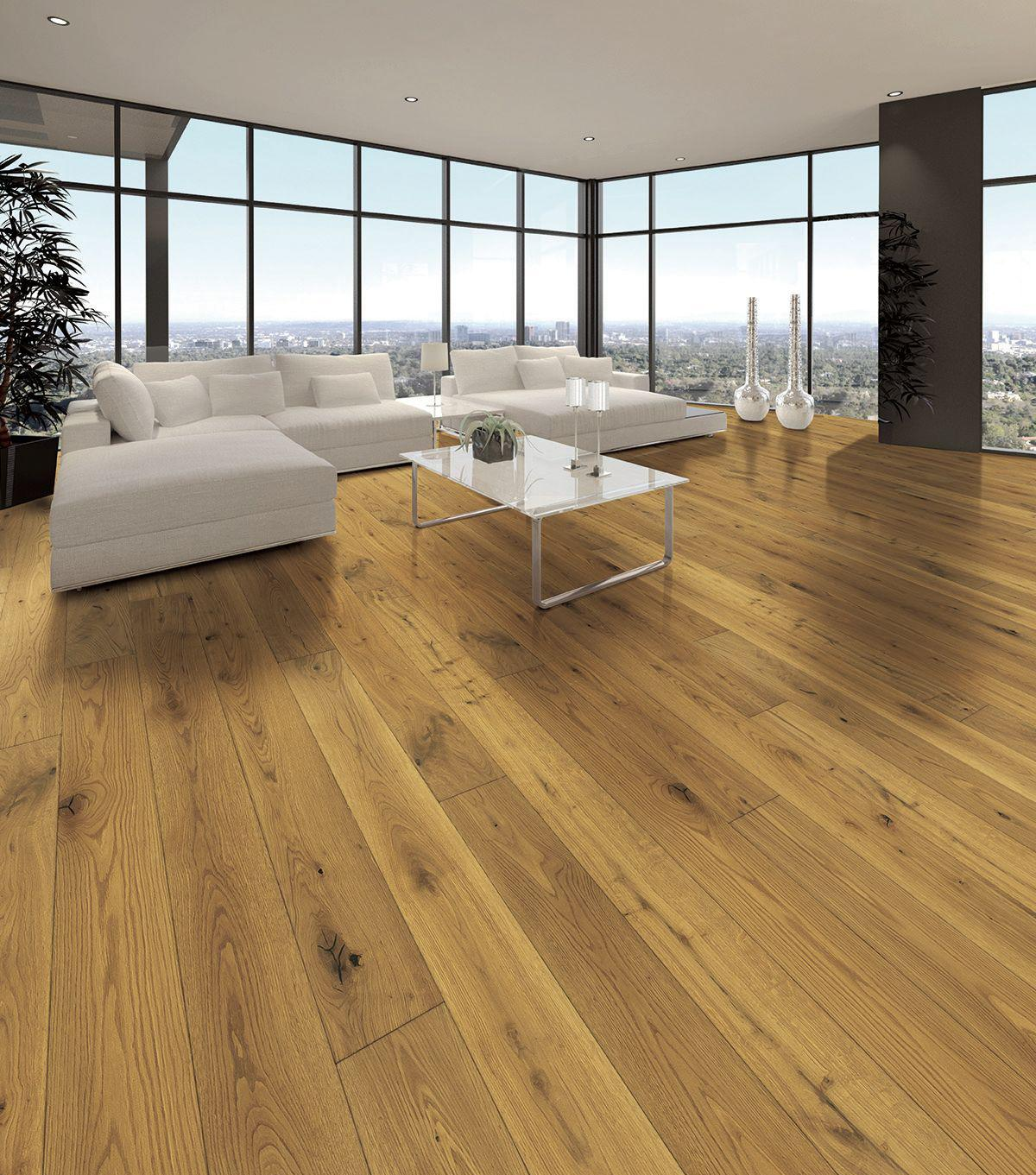 Tuscan Vintage Classic Light Smoked Oak Brushed & Matt Lacquered TF201 Engineered Wood Flooring
