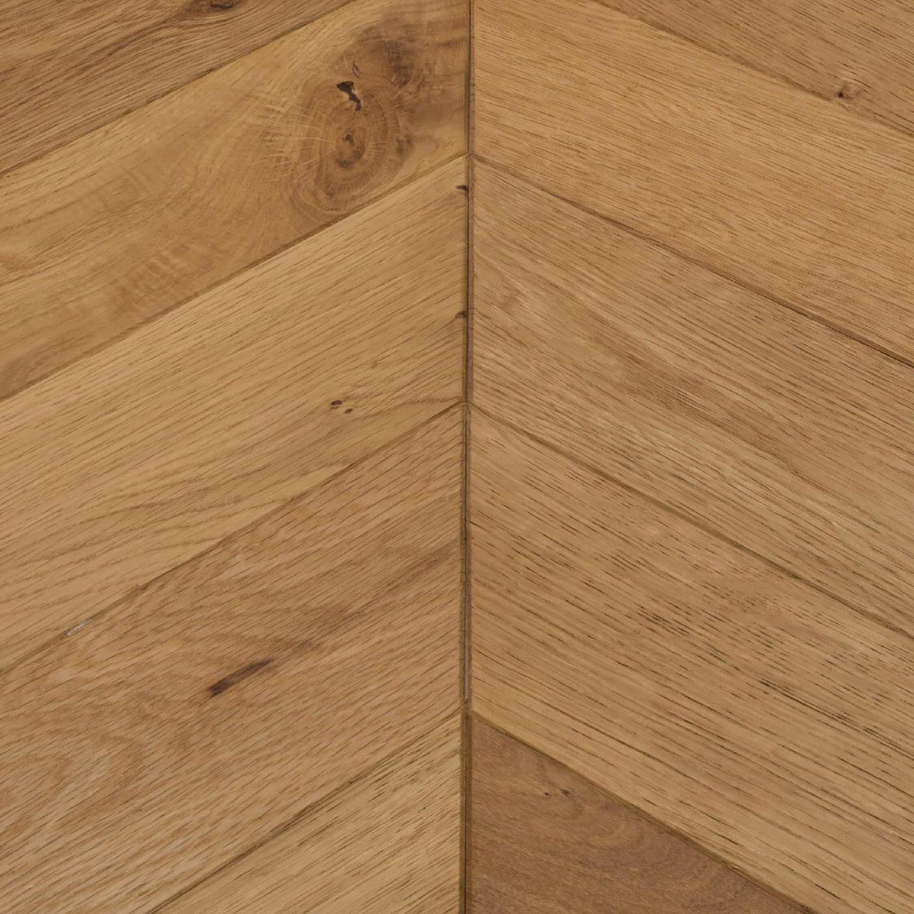Woodpecker Goodrich Chevron Manor Oak Brushed & Matt Lacquered Engineered Wood Flooring 32-MNO-001