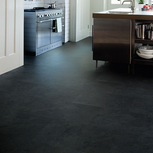 Baelea Aqua Rigid Core Cavern Slate Click Tile Effect Engineered Vinyl Floor