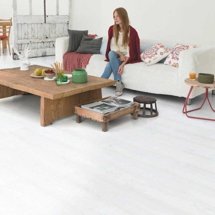 Quick-Step Impressive Ultra White Planks IMU1859 12mm Laminate Flooring