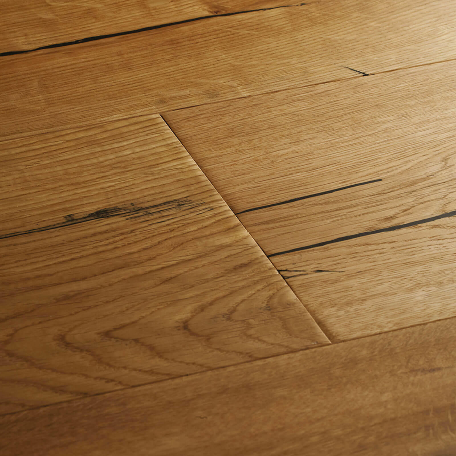 Natural White Oak Flooring: Woodpecker Berkeley Distressed Natural Oak Oiled 38-BON