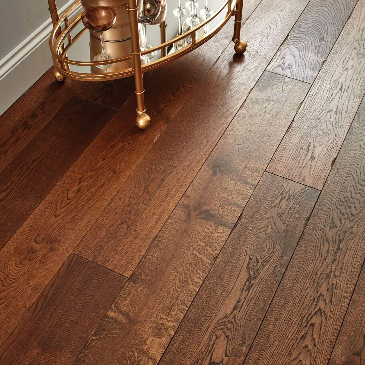 Woodpecker Chepstow Distressed Charcoal Oak Hardwax Oiled Engineered Wood Flooring 190mm 65-AOC-001