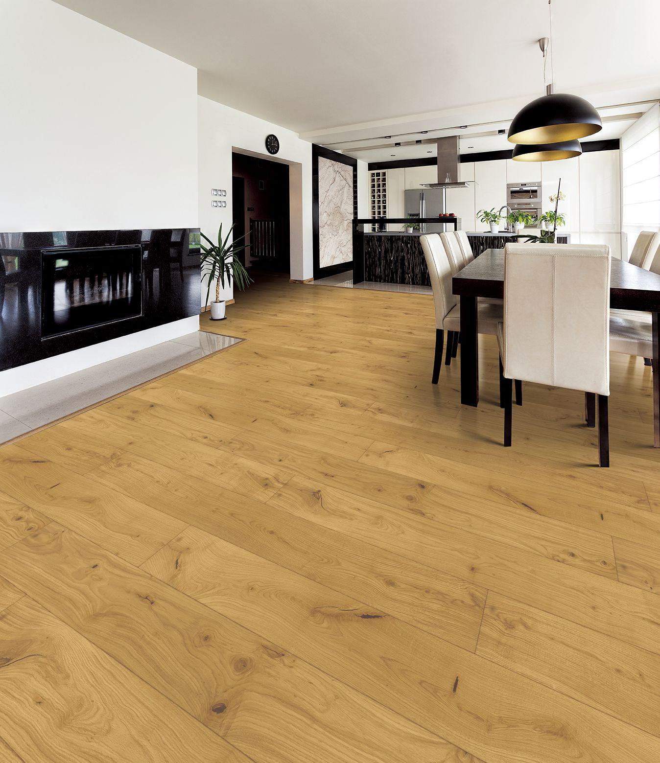 Tuscan Grande Natural Oak Enhanced Hand Scraped Brushed & UV Oiled TF300 Engineered Wood Flooring