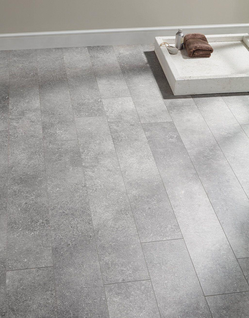 Baelea Ceramic Aqua Industrial Light Grey 8mm Tile Effect Laminate Flooring