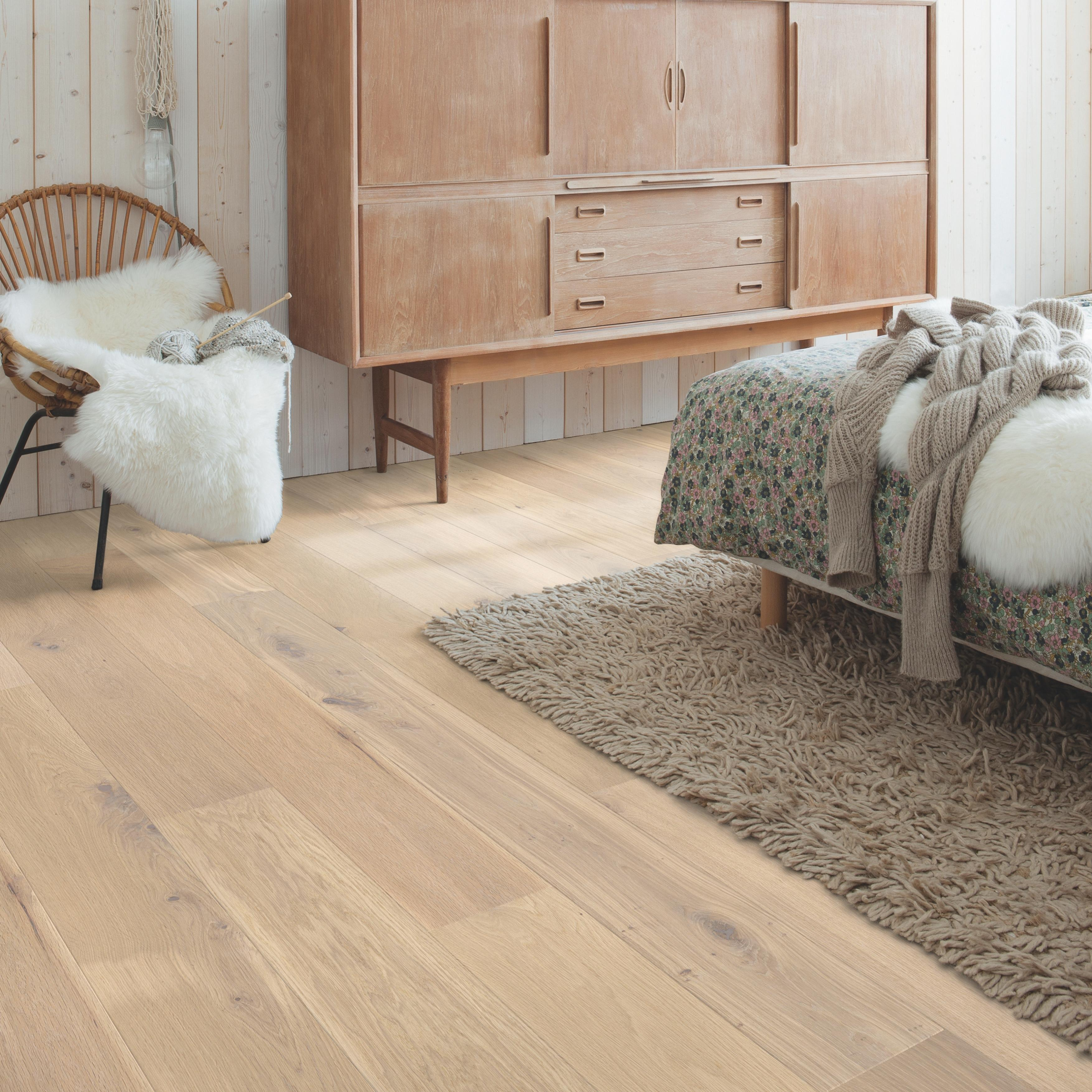 Quick-Step Palazzo Almond White Oak Oiled Engineered Realwood Flooring PAL3014S