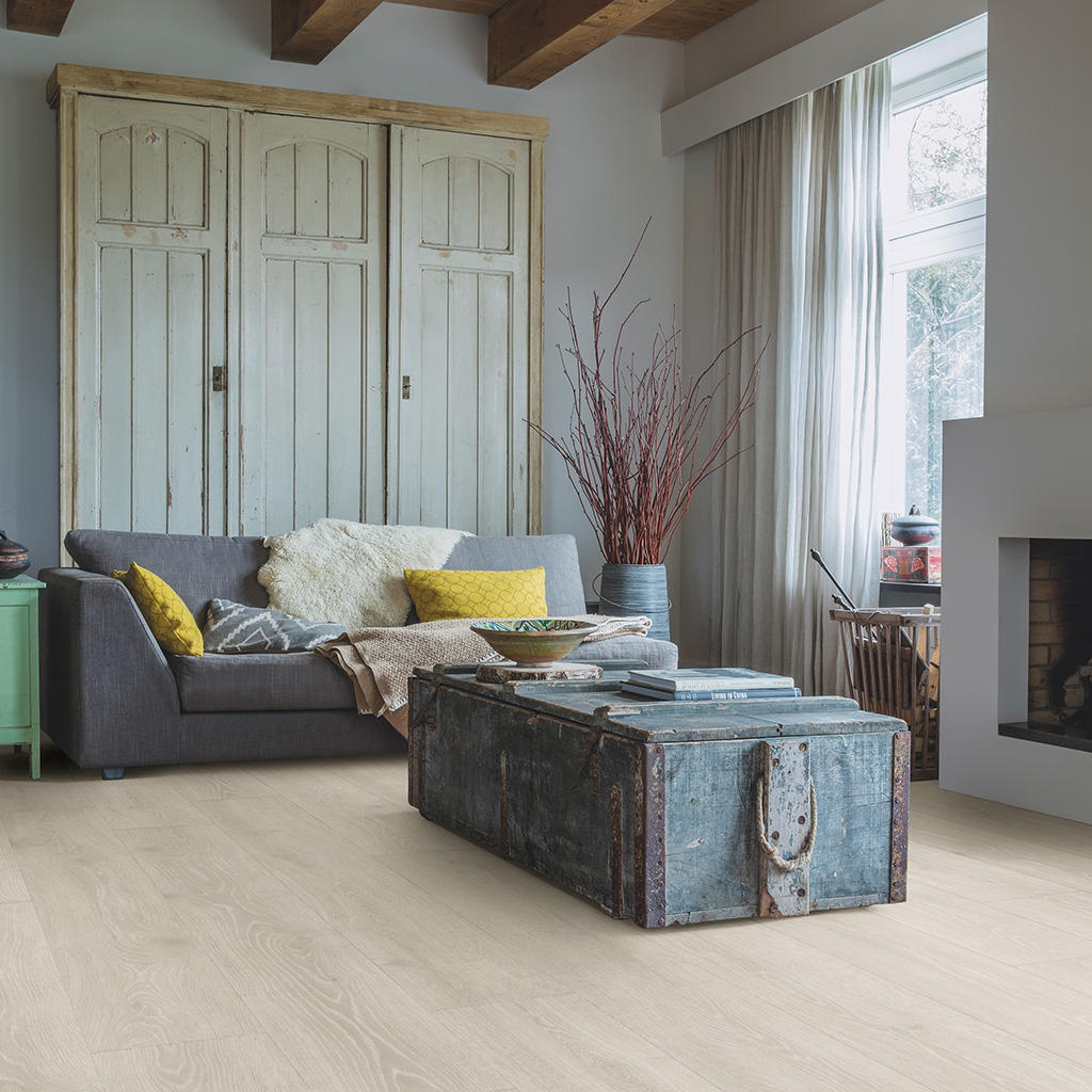 Quick-Step Majestic Woodland Oak Light Grey Planks MJ3547 Laminate Flooring