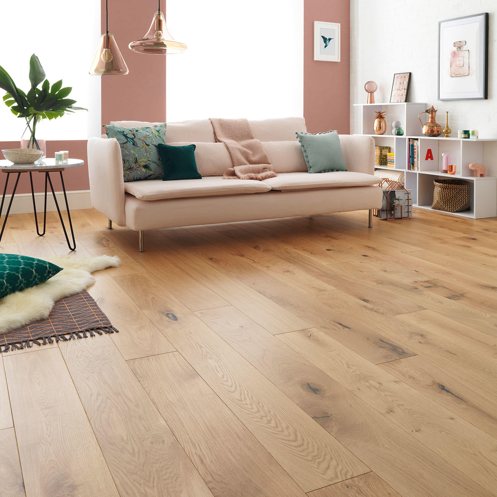 Woodpecker Harlech Rustic Oak Wide Oiled Engineered Wood Flooring 190mm 35-HRO-001