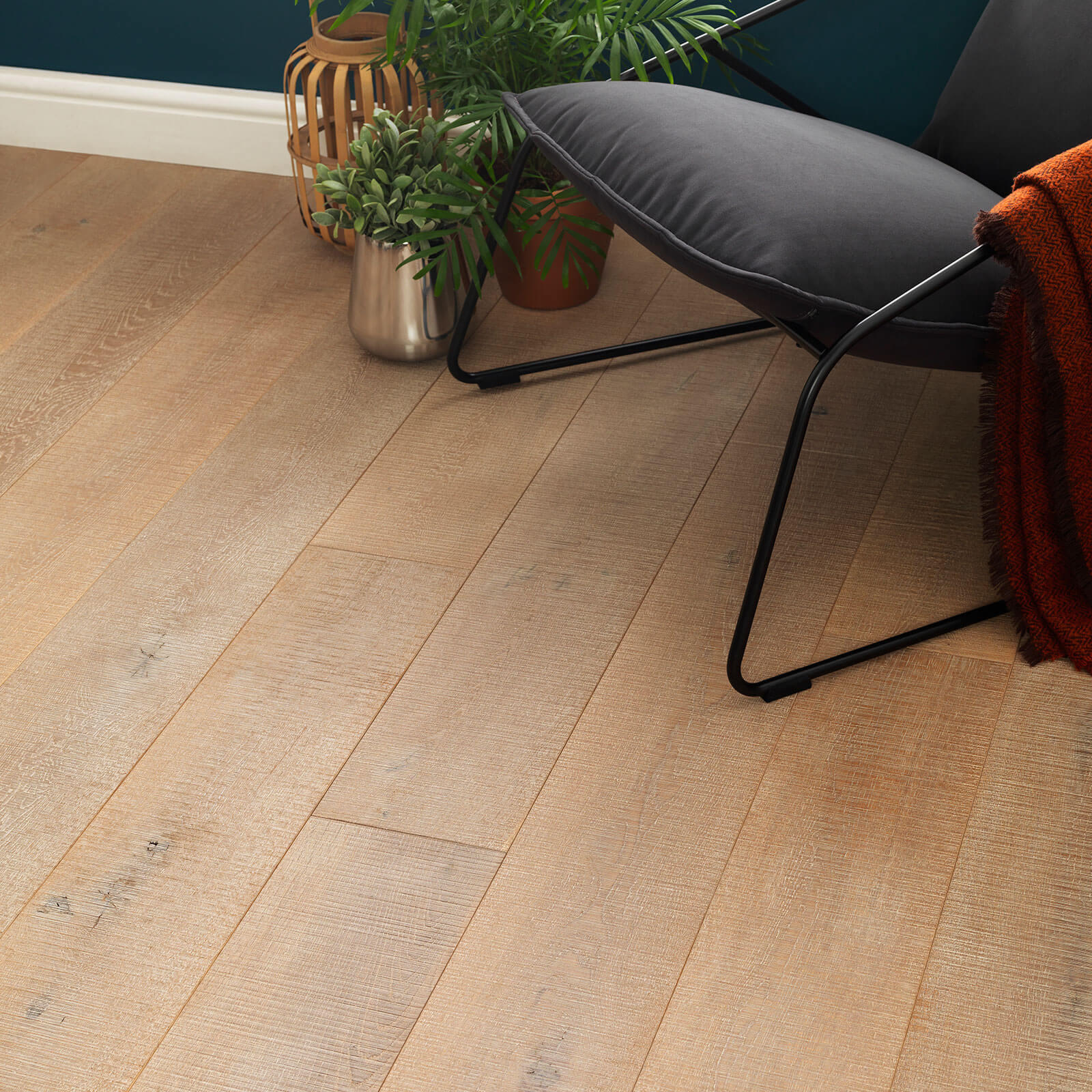 Woodpecker Chepstow Sawn Grey Oak Hardwax Oiled Engineered Wood Flooring 189mm 65-SOG-001