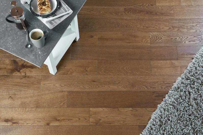 Baelea Narrow Golden Oak Brushed & UV Oiled 125mm Engineered Wood Flooring BF15