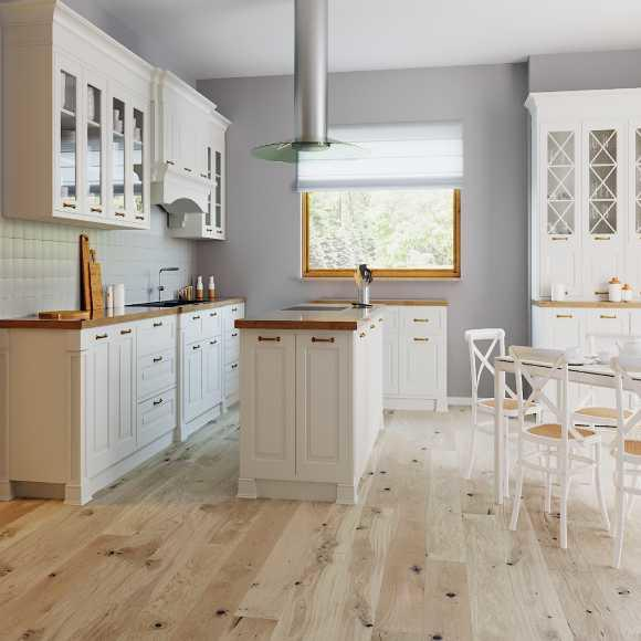 Tuscan 1 Strip White Oak Brushed & UV Matt Lacquered TF121 Strato Classic Engineered Wood Flooring
