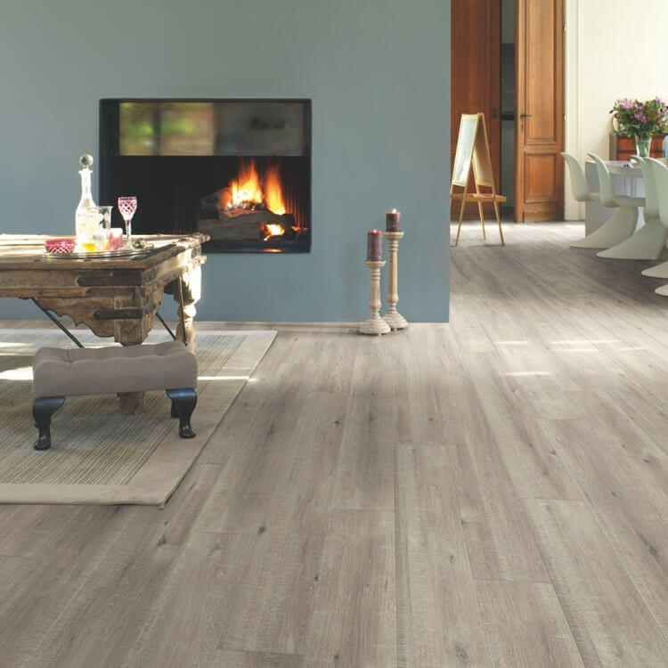 Quick-Step Impressive Saw Cut Oak Grey IM1858 8mm Laminate Flooring