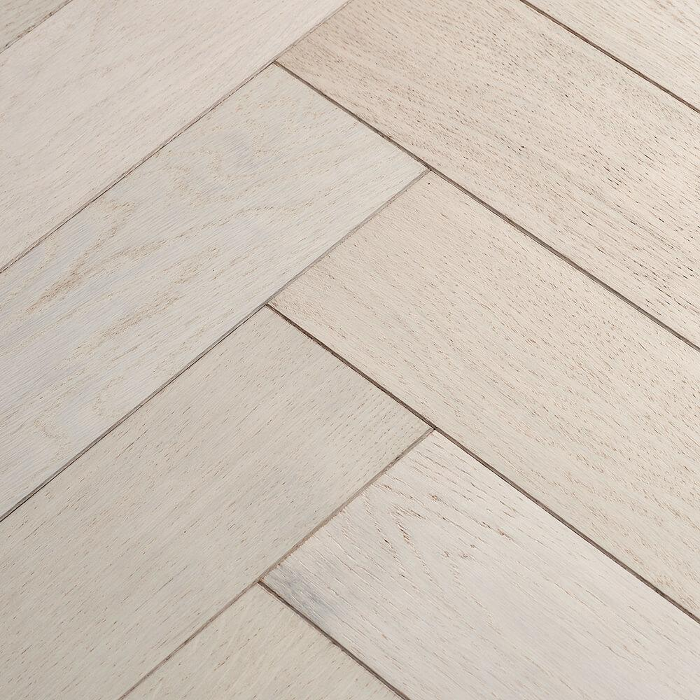 Woodpecker Goodrich Herringbone Cotton Oak Brushed & Matt Lacquered Engineered Wood Flooring 32-GCT-001