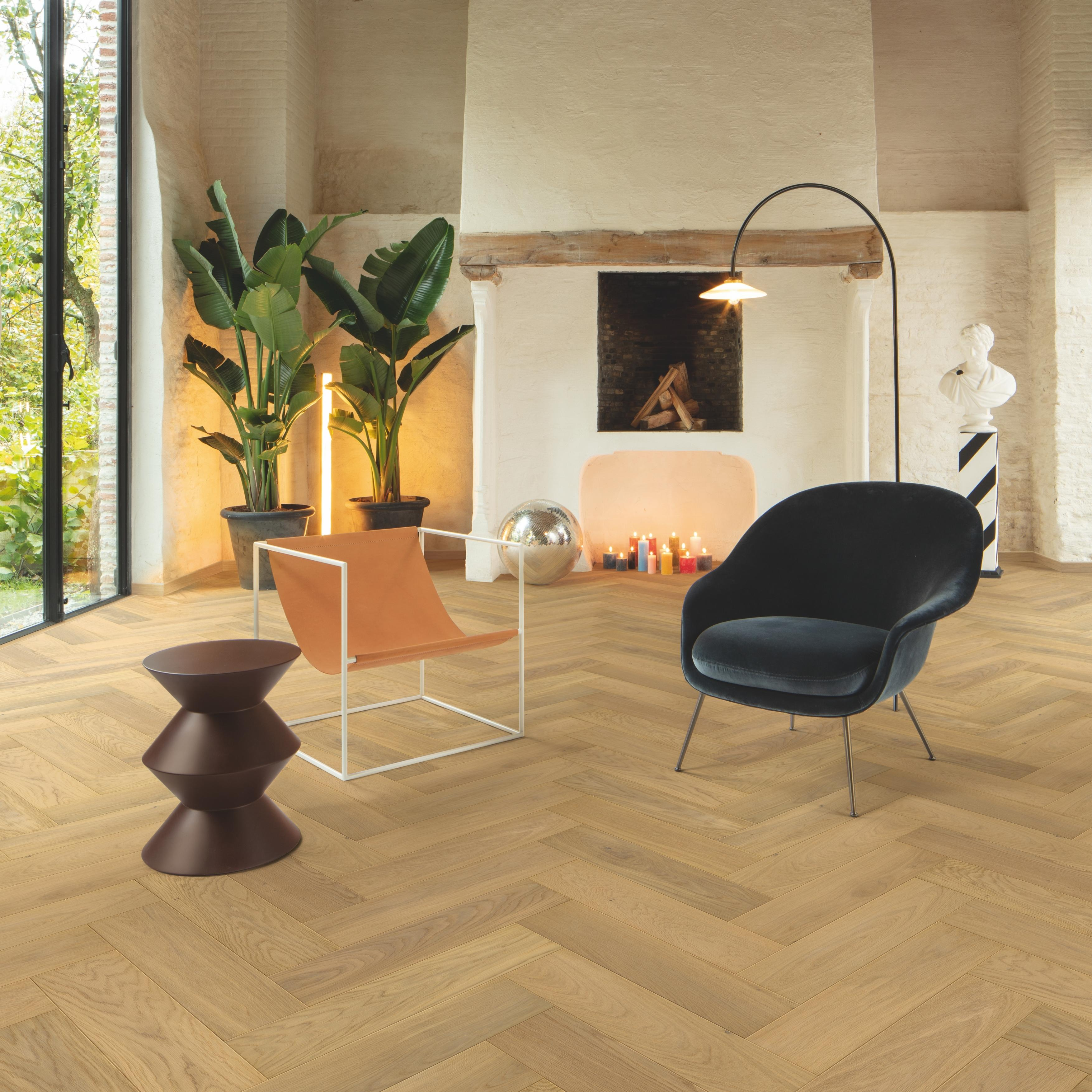 Quick-Step Disegno Pure Light Oak Extra Matt Engineered Wood Flooring DIS5115S