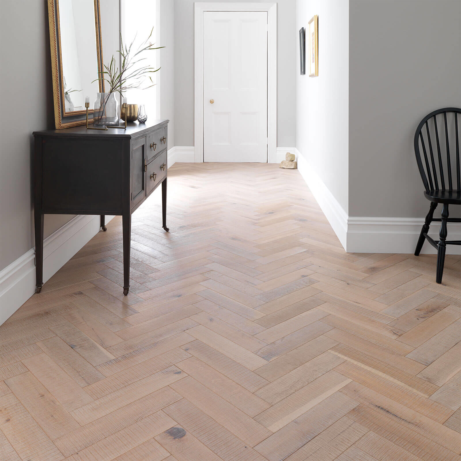 Wood Goodrich Herringbone Salted Oak Brushed Matt Lacquered Engineered Flooring 32 Sgr 001