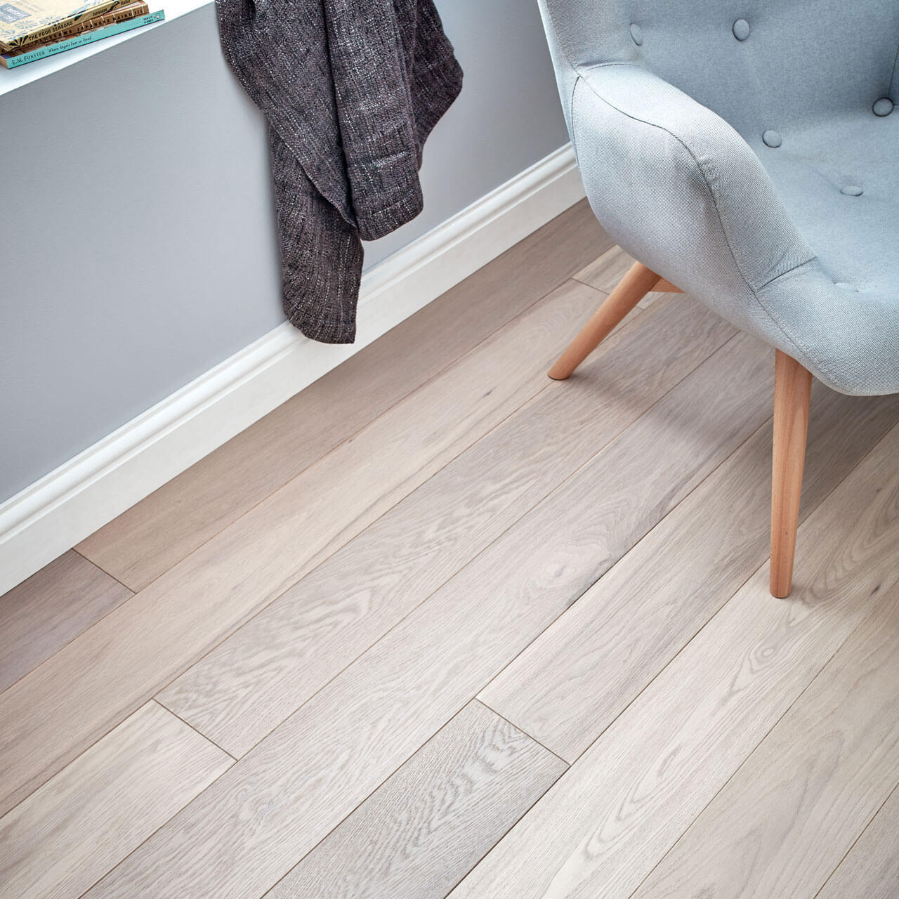 Woodpecker Harlech White Oiled Oak Engineered Wood Flooring 190mm 35-HWO-189